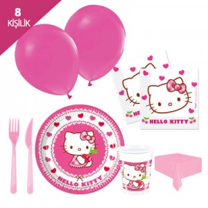 HELLO KITTY  PARTİ SETİ