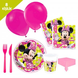 MINNIE MOUSE  PARTİ SETİ